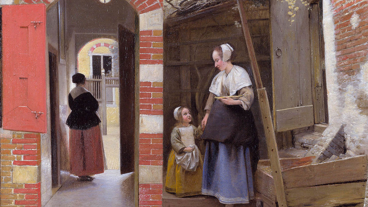 Pieter de Hooch - The Courtyard of a House in Delft - New Sales Company
